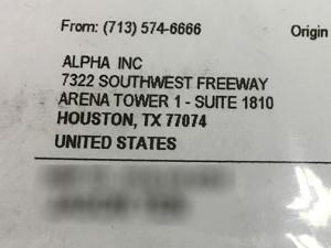 Shipping Label on FedEx Box