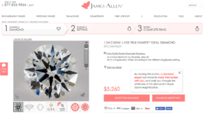 James Allen Diamonds Website